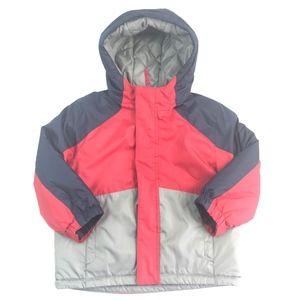 Healthtex Boy Red Ski Hooded puffer Jacket 3t